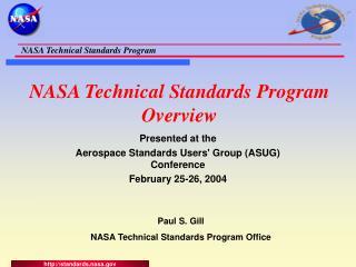 NASA Technical Standards Program Overview