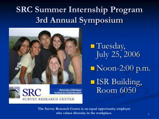 SRC Summer Internship Program 3rd Annual Symposium