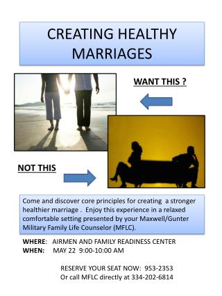 CREATING HEALTHY MARRIAGES