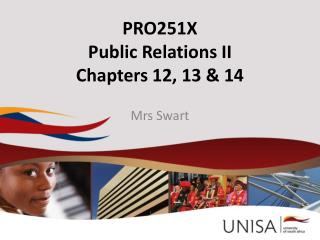 PRO251X Public Relations II Chapters 12, 13 & 14