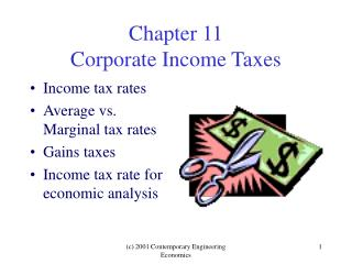 Chapter 11 Corporate Income Taxes