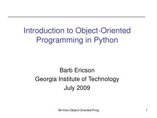 Introduction to Object-Oriented Programming in Python