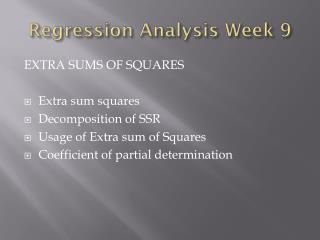 Regression Analysis Week 9
