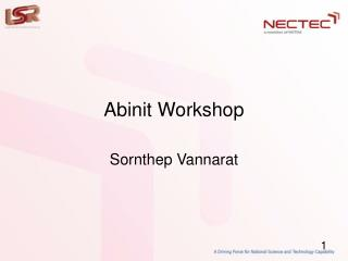 Abinit Workshop