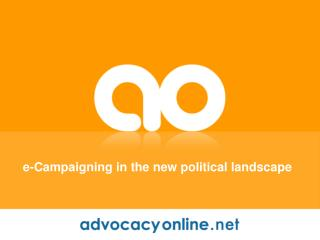 e-Campaigning in the new political landscape