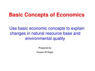 Basic Concepts of Economics