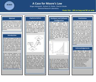A Case for Moore's Law
