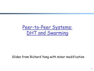 Slides from Richard Yang with minor modification