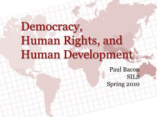Democracy, Human Rights, and Human Development