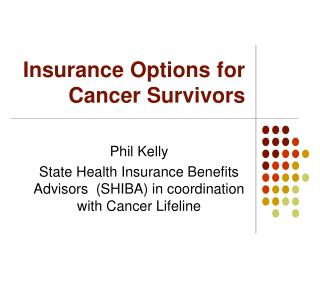 Insurance Options for Cancer Survivors