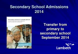 Transfer from  primary to  secondary school September 2014