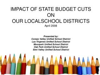 IMPACT OF STATE BUDGET CUTS ON OUR LOCALSCHOOL DISTRICTS April 2008