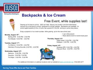 Backpacks & Ice Cream