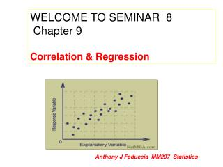 WELCOME TO SEMINAR  8   Chapter 9 Correlation & Regression