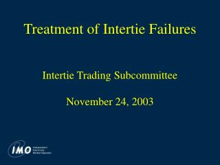 Treatment of Intertie Failures