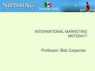 INTERNATIONAL MARKETING MKTG3417