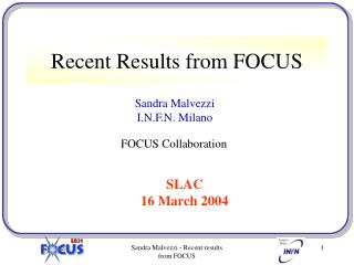 Recent Results from FOCUS