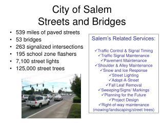 City of Salem Streets and Bridges