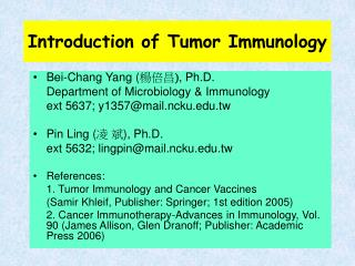 Introduction of Tumor Immunology