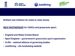 Brilliant new initiative for clubs to raise money