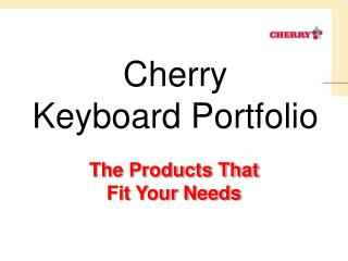 Cherry Keyboard Portfolio