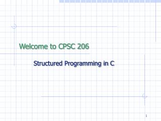 Welcome to CPSC 206