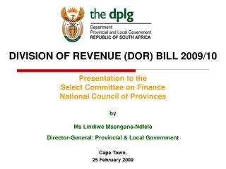 DIVISION OF REVENUE (DOR) BILL 2009/10