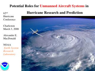 Potential Roles for  Unmanned Aircraft Systems  in                              Hurricane Research and Prediction