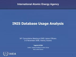 INIS Database Usage Analysis