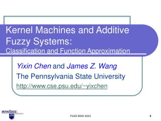 Kernel Machines and Additive Fuzzy Systems: Classification and Function Approximation