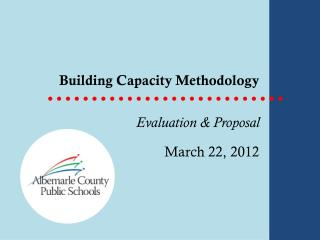 Building Capacity Methodology