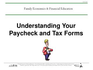 Understanding Your Paycheck and Tax Forms