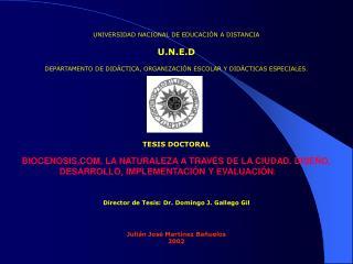 UNIVERSIDAD NACIONAL DE EDUCACIÓN A DISTANCIA U.N.E.D