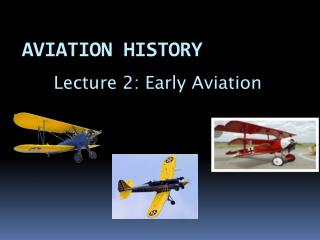 AVIATION HISTORY