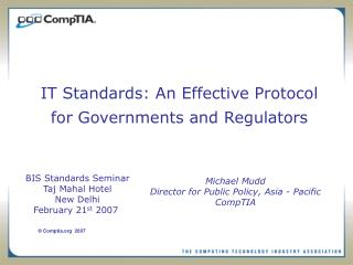 IT Standards: An Effective Protocol for Governments and Regulators