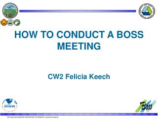 HOW TO CONDUCT A BOSS MEETING