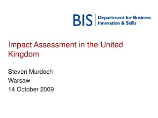 Impact Assessment in the United Kingdom
