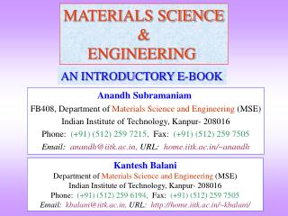 MATERIALS SCIENCE & ENGINEERING
