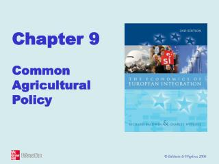 Chapter 9 Common Agricultural Policy