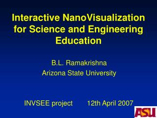Interactive NanoVisualization for Science and Engineering Education