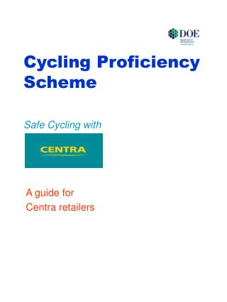 Cycling Proficiency Scheme Safe Cycling with