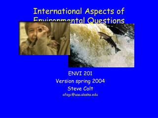 International Aspects of Environmental Questions
