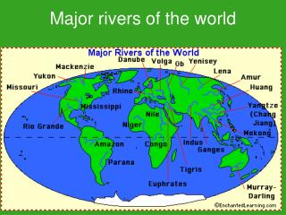 Major rivers of the world