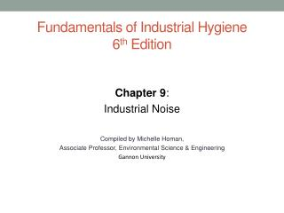 Fundamentals of Industrial Hygiene 6 th  Edition