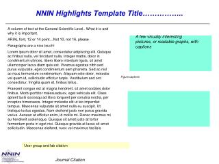 NNIN Highlights Template Title……………..