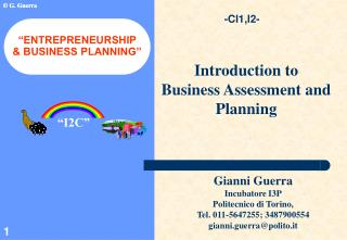 """ENTREPRENEURSHIP  & BUSINESS PLANNING"""