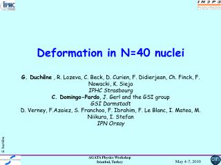 Deformation in Fe and Cr nuclei