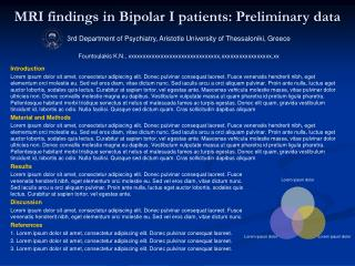 MRI findings in Bipolar I patients: Preliminary data
