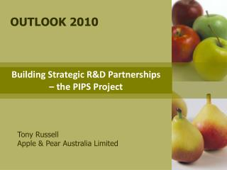 Building Strategic R&D Partnerships      – the PIPS Project