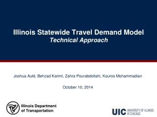 Illinois Statewide Travel Demand Model Technical Approach